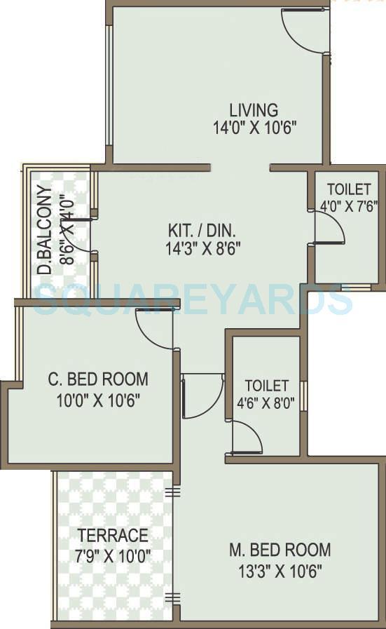acme selene apartment apartment 2bhk 948sqft 10003