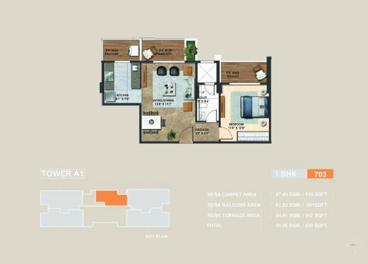 adani atelier greens apartment 1bhk 510sqft 1