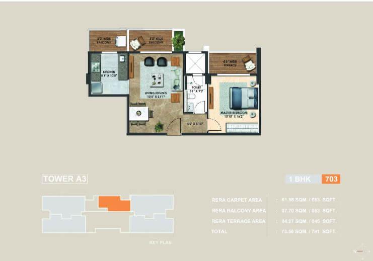 adani atelier greens apartment 1bhk 663sqft 1