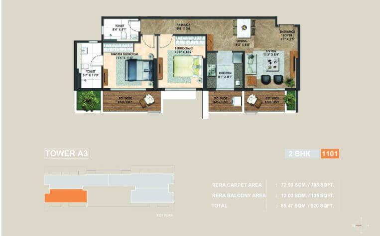 adani atelier greens apartment 2bhk 785sqft 1
