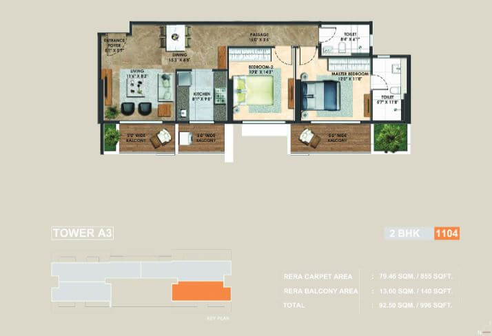 adani atelier greens apartment 2bhk 855sqft 1