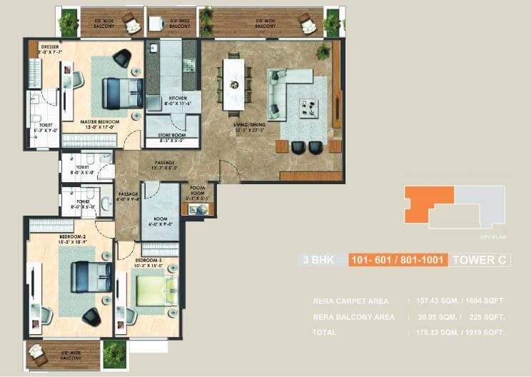 adani atelier greens apartment 3bhk 1694sqft 1