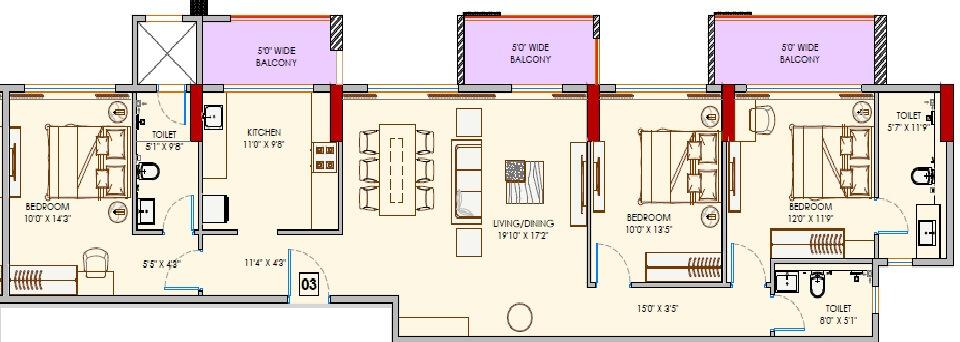 adani codename greens apartment 3bhk 1200sqft 1