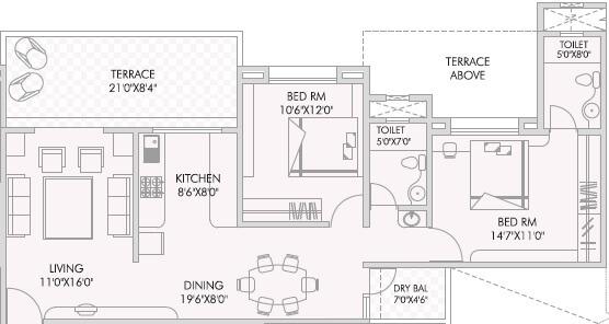 anandtara silicon bay apartment 2bhk 1315sqft 1