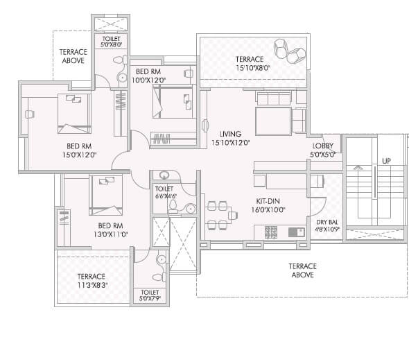 anandtara silicon bay apartment 3bhk 1840sqft 1