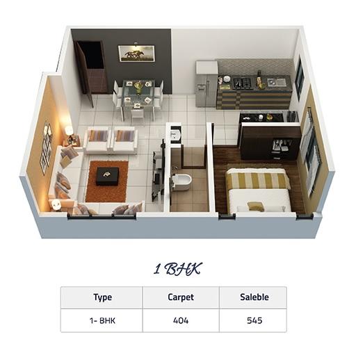 aqura paradise apartment 1 bhk 404sqft 20214603174617