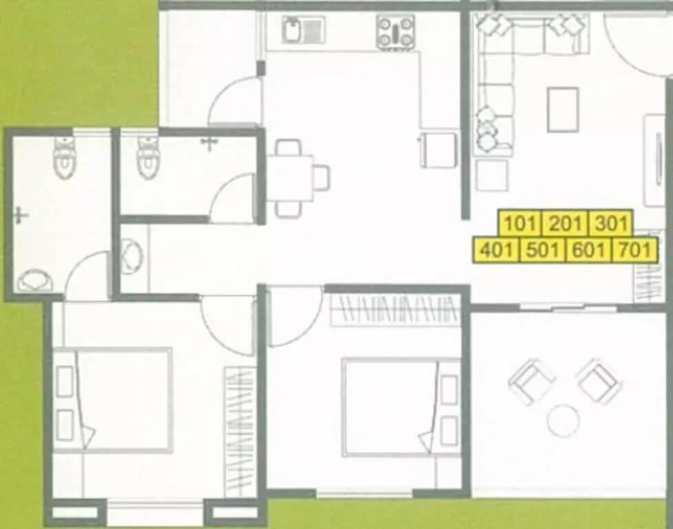 ashish laxmi angan apartment 2bhk 638sqft 1