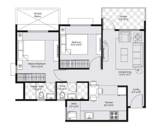 avnee optima heights phase 3 apartment 2 bhk 710sqft 20204911184912