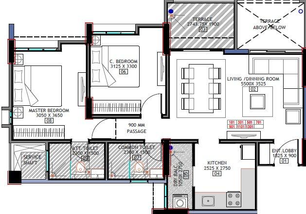 bhandari 32 pinewood drive apartment 2bhk 1043sqft 1