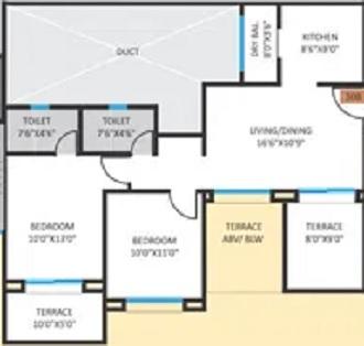 bhandari b.a vermont apartment 2 bhk 1100sqft 20212605152654