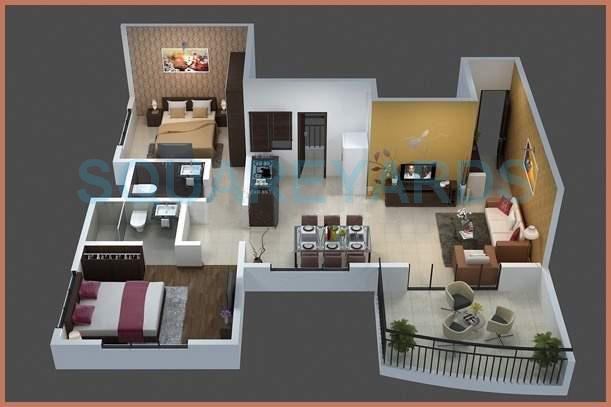 bhujbal misty trails apartment 1bhk 654sqft 10474
