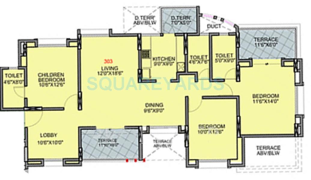 brahma exuberance apartment 3bhk 1713sqft 9720
