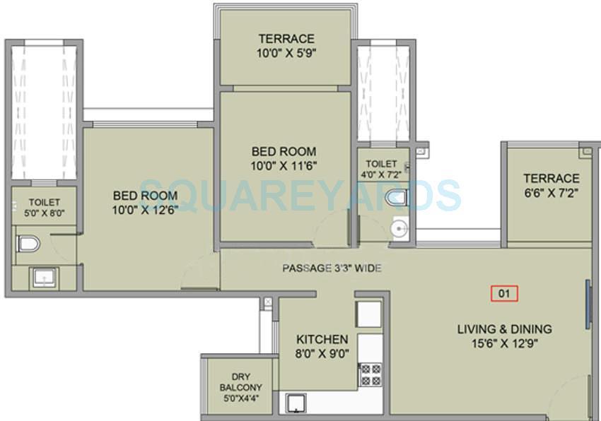 brahma f residences apartment 2bhk 925sqft 9724