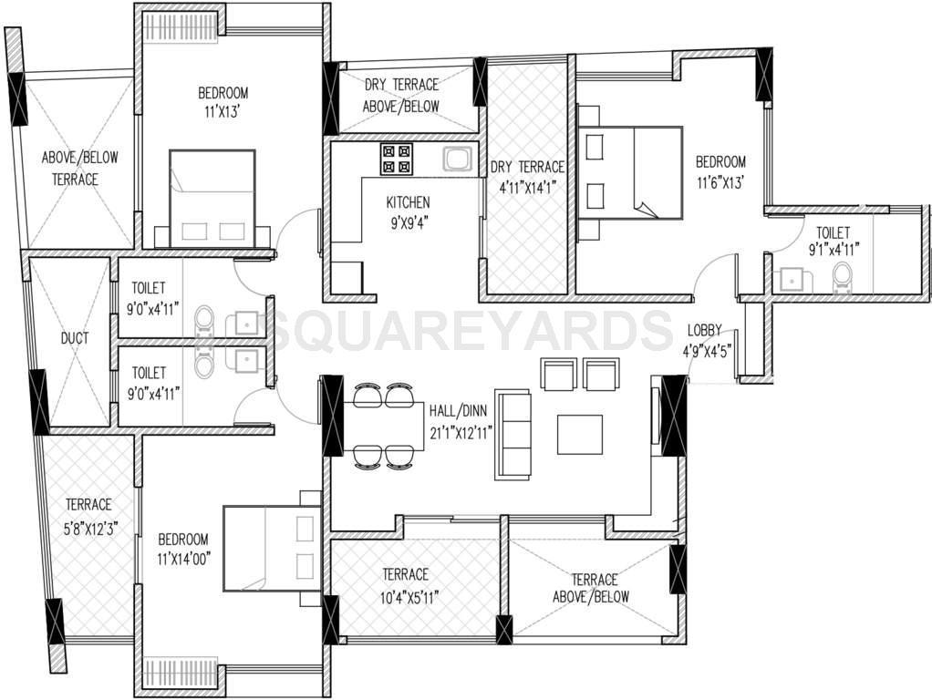 brahma vantage b apartment 3bhk 1928sqft1