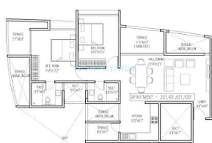 brahma vantage high a apartment 2bhk 1190sqft 10600