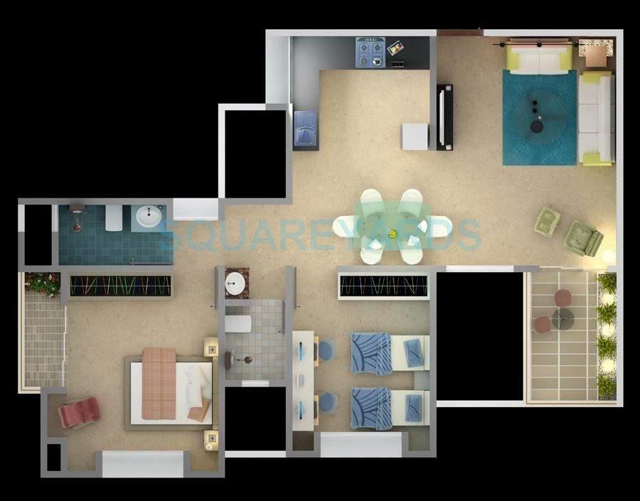 bu bhandari alacrity apartment 2bhk 1083sqft 10537