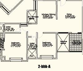 bu bhandari alacrity apartment 2bhk 1140sqft 1
