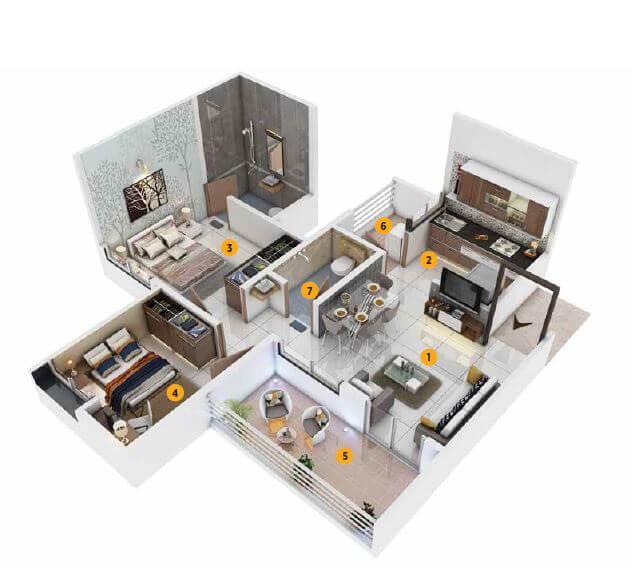 calyx vanalika phase iii 3b apartment 2bhk 434sqft 1