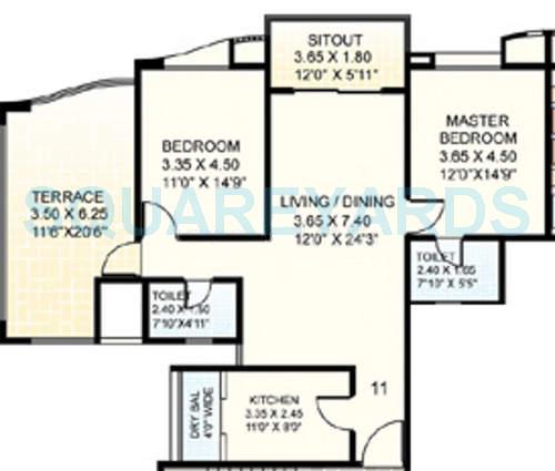clover acropolis apartment 2bhk 1265sqft 11839