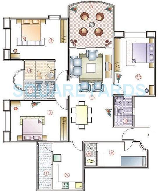 clover highlands apartment 3bhk 1775sqft 11648