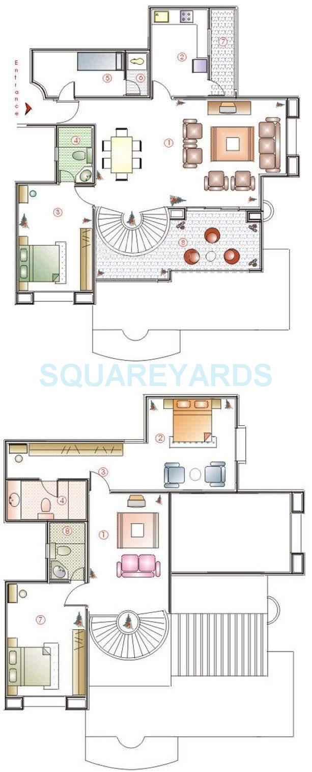 clover highlands apartment 3bhk 2360sqft 11650