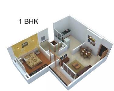 dajikaka gadgil anantsrishti apartment 1bhk 594sqft 1