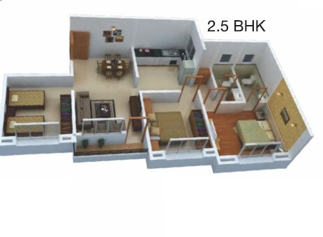 dajikaka gadgil anantsrishti apartment 2bhk 978sqft 1