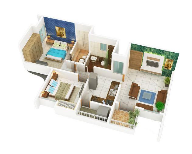 divine nest apartment 2bhk 584sqft21