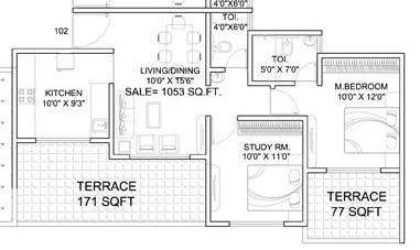 dynamic linea apartment 2bhk 1053sqft 1
