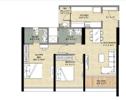 forest edge phase 2 apartment 2bhk 683sqft01
