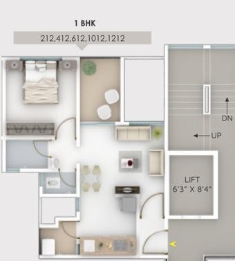 fortune empress apartment 1 bhk 428sqft 20205412165457