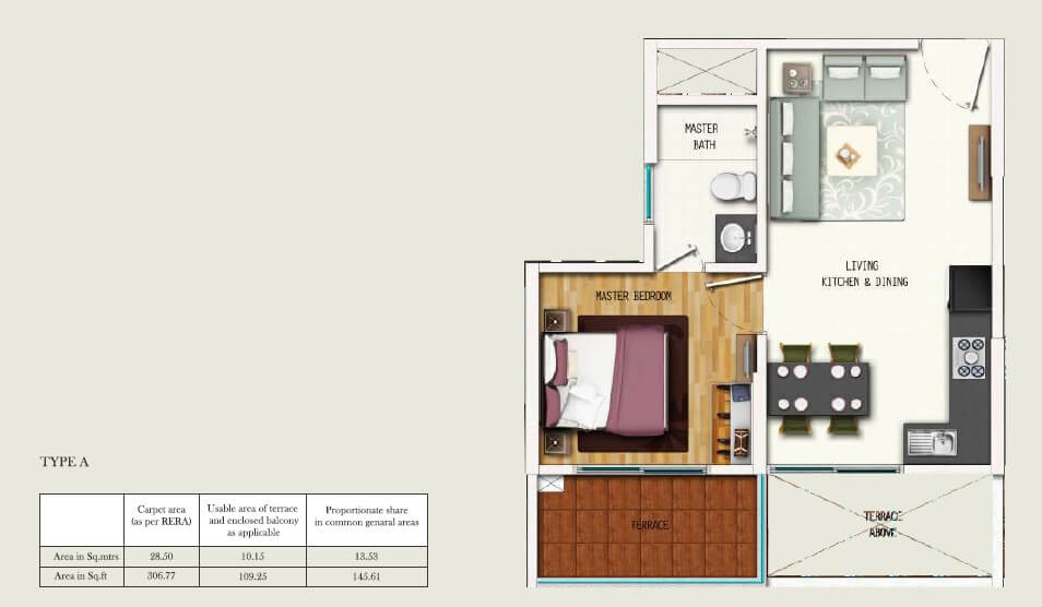 gera adara apartment 1bhk 415sqft 1