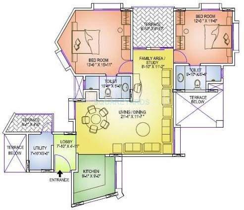 gera emerald city apartment 2bhk 1242sqft 11122