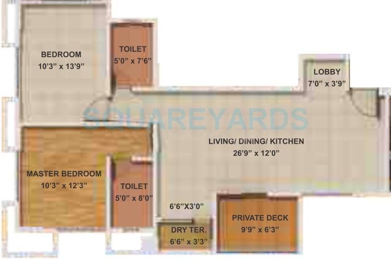 gera park view apartment 2bhk 1063sqft 10706