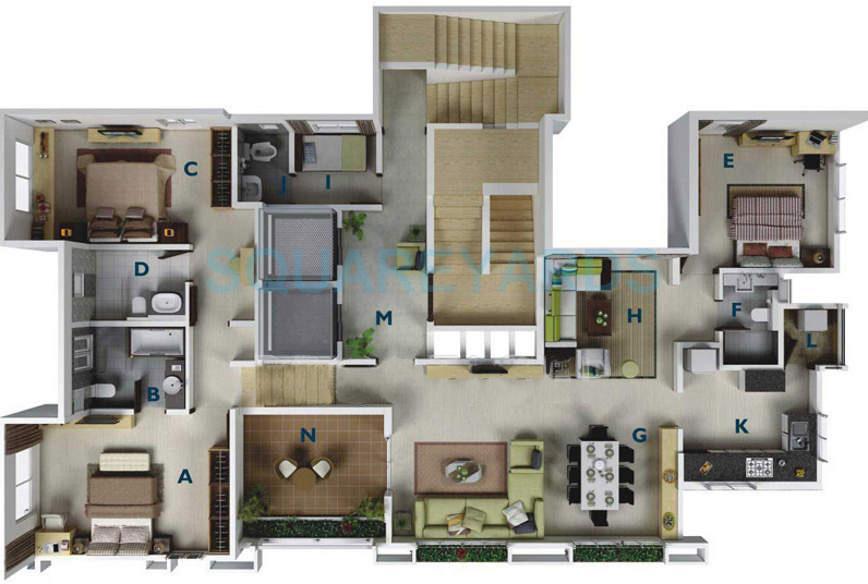 gera regent tower apartment 3bhk 2350sqft 11270