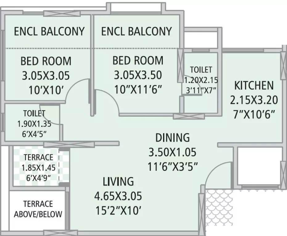 gk silverland residency phase 3 apartment 2bhk 635sqft31