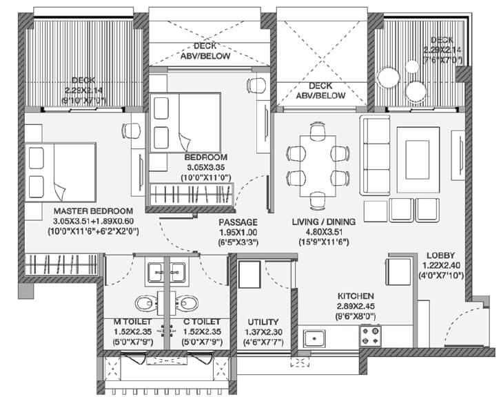 godrej elements apartment 2bhk 826sqft 1