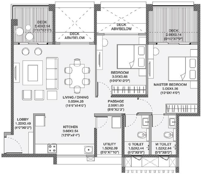 godrej elements apartment 2bhk 939sqft 1