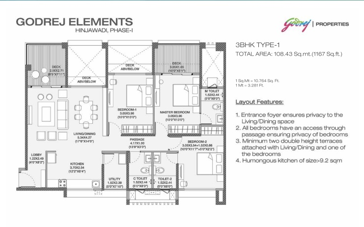 godrej elements apartment 3bhk 1167sqft 41