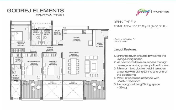 godrej elements apartment 3bhk 1488sqft 41