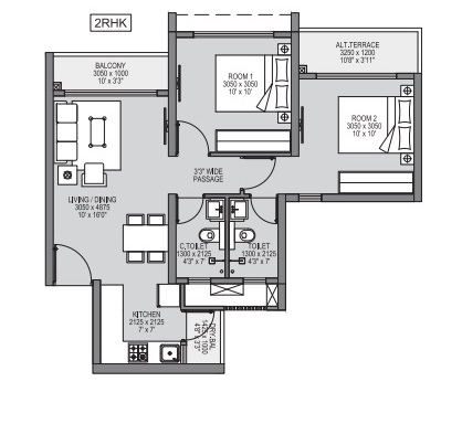 godrej forest grove apartment 2 bhk 629sqft 20215617125657