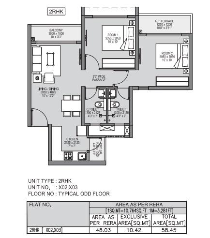 godrej forest grove apartment 2bhk 629sqft11