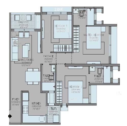 godrej green cove apartment 3 bhk 815sqft 20204406194415