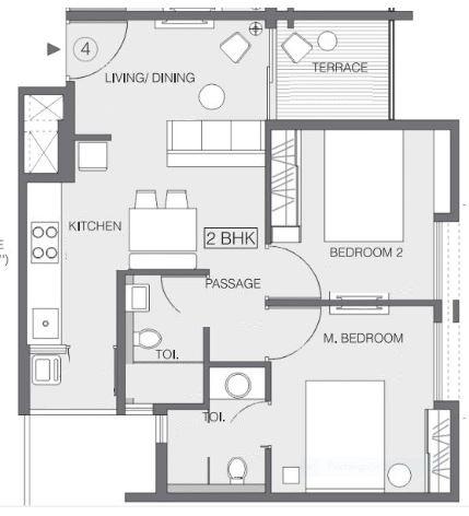 godrej greens apartment 2bhk 578sqft121