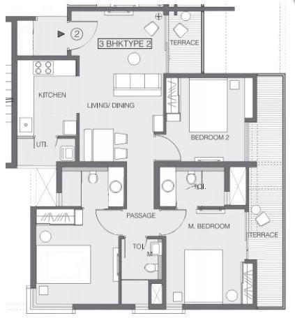 godrej greens apartment 3bhk 918sqft121