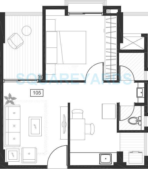 godrej horizon apartment 1bhk 602sqft 10865