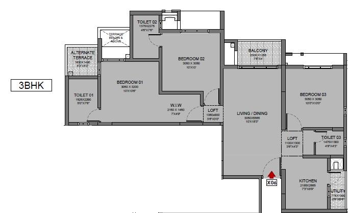 godrej park ridge apartment 3 bhk 714sqft 20212413172451