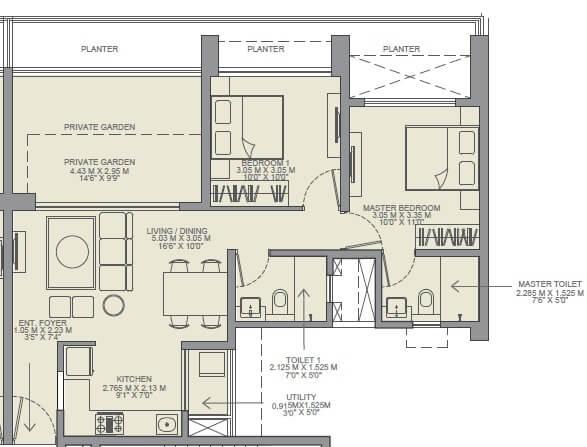 godrej rejuve apartment 2bhk 601sqft 1