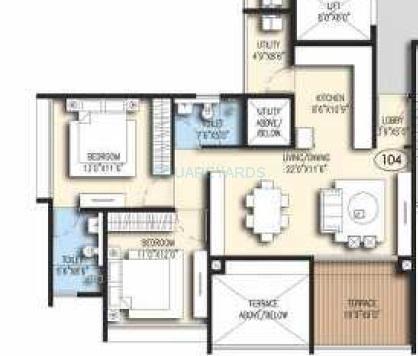 goel ganga acropolis apartment 2bhk 1192sqft 1