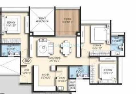 goel ganga acropolis apartment 3bhk 1582sqft 1